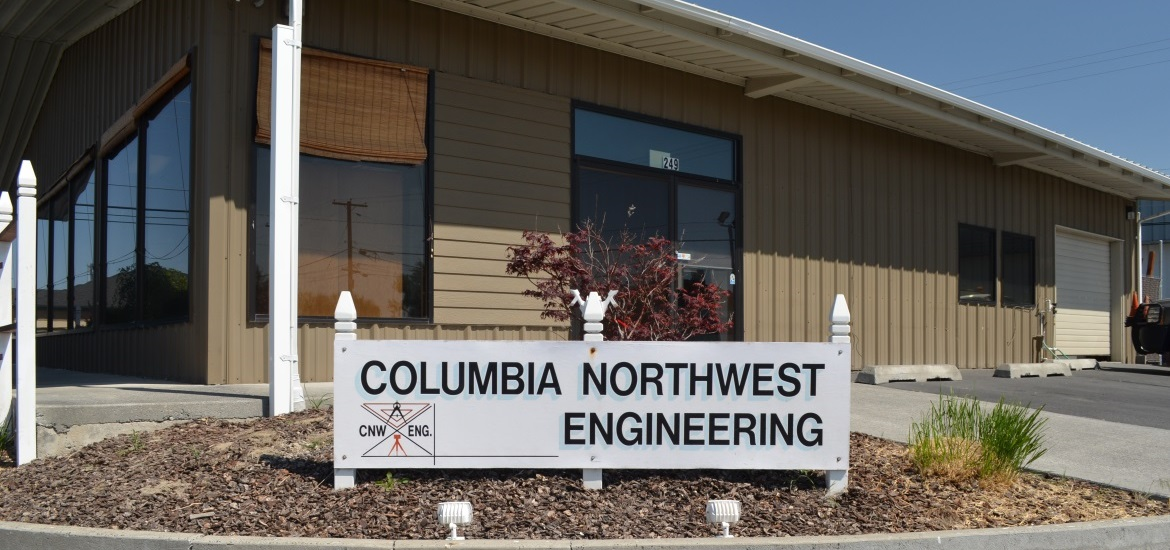 Columbia Northwest Engineering Building and sign in Moses Lake, Grant County, Central Washington